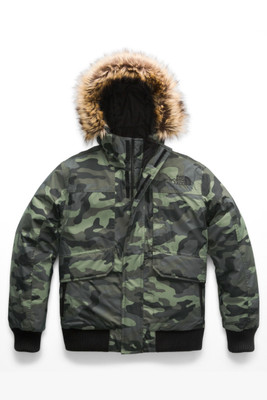 The North Face Gotham Down Jacket | Boy's | NF0A34QB | 5NB | New Taupe Green Camouflage Print | Front