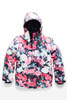 The North Face Brianna Insulated Ski Jacket | Girl's | NF0A3CV3 | 5PV | Atomic Pink Digi Floral Print | Front