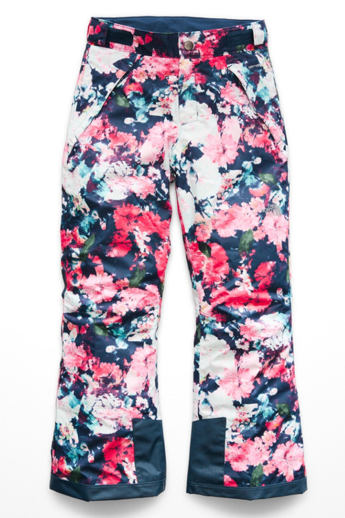 The North Face Freedom Insulated Ski Pant | Girl's | NF0A34V1 | 5PV | Atomic Pink Digi Floral Pink | Front