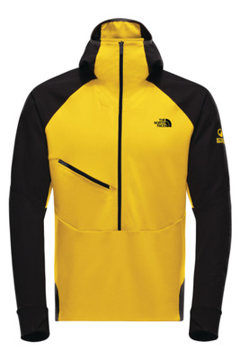 The North Face Respirator Jacket | Men's | NF0A3IG8 | B0R | Canary Yellow | TNF Black | Front