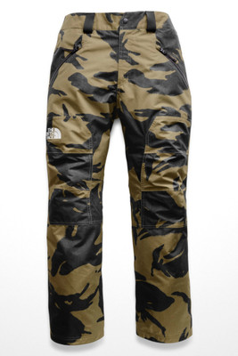 The North Face Straight Six Ski Pant | Men's | NF0A3LWM | 7AB | Burnt Olive Green Disrupt Print | Front