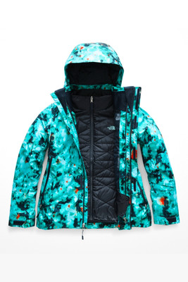 The North Face Garner Triclimate Ski Jacket | Women's | NF0A3KQX | 7JH | Transantarctic Blue Snowfloral Print | Front