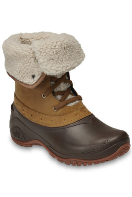 The North Face Shellista Roll-Down Boot | Women's | NF0A3RQY | 8KM | Golden Brown | Coffee Bean Brown | Front | Rolled Down