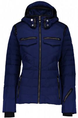 Obermeyer Down Jacket | Women's Devon | 11085 | 7163 | Resort at Midnight | Front