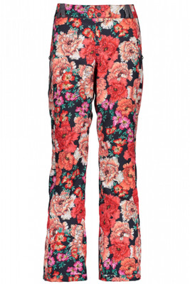 Obermeyer Ski Pant | Women's Harlow | 15081 | 8144 | Pinks-In-Posy-Print | Front