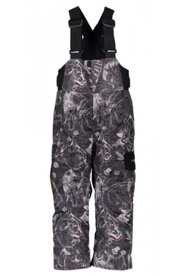 Obeyermeyer Ski Pants | Boy's Volt Novelty | 65020 | 8109 | Howl Grey Print | Front