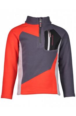 Obermeyer Fleece | Boy's Pulsar | 67013 | 6040 | Red | Grey and black color blocking