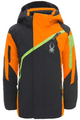 Spyder Mini Challenger Ski Jacket | Boy's | 183506 | 001 | Black | Front