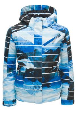 Spyder Lola Ski Jacket | Girl's | 184014 | 431 | Powder Peak blue | Front