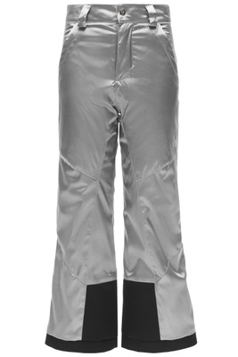 Spyder Olympia Regular Ski Pant | Girl's | 184030 | 040 | Silver-Black | Front