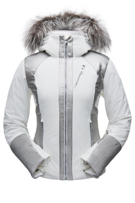 Spyder Amour Real Fur Ski Jacket | Women's | 182700 | 100 | White | Front