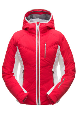 Spyder Fleur Synthetic Down GTX Ski Jacket | Women's | 182728 | 674 | Hibiscus | Front