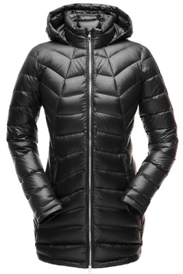 Spyder Syrround Faux Fur Down Jacket | Women's | 182391 | 001 | Black | Front