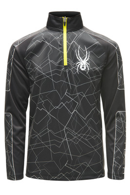 Spyder Limitless Challenger Zip T-Neck | Boy's | 183108 | 001 | Black | Front