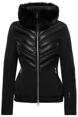 Toni Sailer Mica Fur Women's Ski Jacket | 282112F | Limited Edition, a combination of polyamide/polyurethane and 100% genuine leather