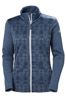 Helly Hansen Graphic Fleece Jacket | Women's | 51799 | 701 | Vintage Indigo | Front