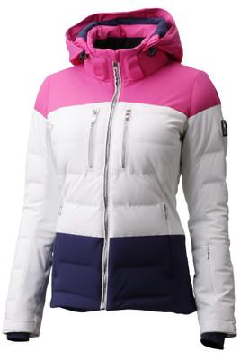 Descente Sienna Ski Jacket |  Women's | DWWMGK11 | 0470 | Super White/ Pink | Front