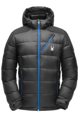 Spyder Eiger Down Jacket | Men's | 181606 | 001 | Black | Front