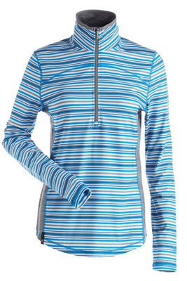 Nils-Zevi Striped Top | Women's Azure Blue