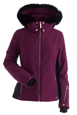 Nils Pia Women's Ski Jacket with Real Fur Hood Trim | 2238BRF | Plum completes a stylish enemble