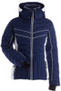 Nils Kenzie Ski Jacket   Women's in Navy and White with chest detailing