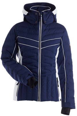 Nils Kenzie Ski Jacket | Women's in Navy and White with chest detailing