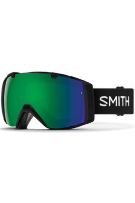 Smith I/O Asian Fit Goggles + Spare Lens | II7CPGA | Black | Chromapop Sun Green Lens