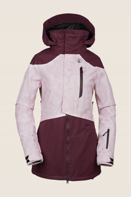 Volcom Pine 2L TDS Snowboard Jacket | Women's | H045191119 | Merlot | Front