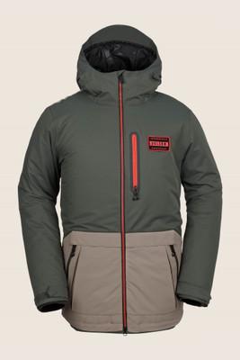 Volcom Analyzer Insulated Snowboard Jacket | Men's | G045190719 | Black Green | Front