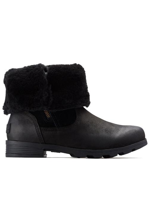 Sorel Emelie Foldover Boot | Women's | 1809031 | Black | Folded