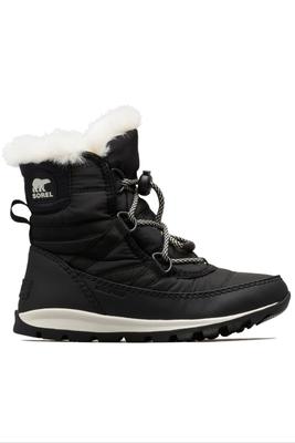 Sorel Whitney Short Lace Boot |  Big Kids | 1767401 | Black | Sea Salt | Side