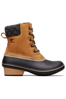 Sorel Slimpack II Lace Boot | Women's | 1702251 | Elk | Black | Side