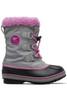 Sorel Yoot Pac Nylon Boot | Big Kids | 1638021 | Chrome Grey | Orchid | Side