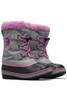 Sorel Yoot Pac Nylon Boot | Big Kids | 1638021 | Chrome Grey | Orchid | Side Pair