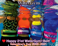 WaterGym® Water Float Belt in Vibrant Tropical Colors!