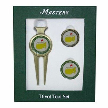 The Masters Ball Marker & Divot Tool- From Augusta  / Green & Black Trim