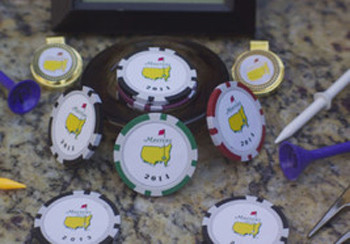 The Masters  2014 Championship Ball Marker Poker Chip- 3  Mixed Chips per Set