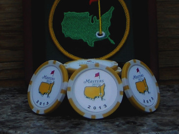 The Masters 2013 Championship Ball Marker Poker Chip- 3 Yellow Chips per Set
