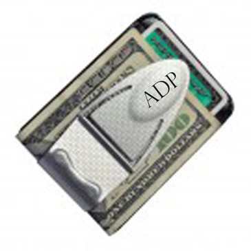 Money Clamp Geneva Silver TI w/ Wallet- Free Engraving-Name or Initials Gr Gift