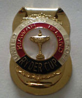 Ryder Cup 1991 PGA Kiawah Island Money Clip- 29th Ryder Cup- White Stone