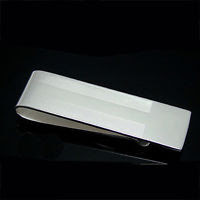 Money Clip Sterling Silver SP - Free Engraving-Name or Initals- Great Gift!