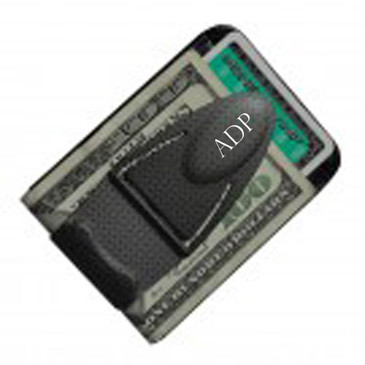 Money Clamp Geneva Black TI w/ Wallet- Free Engraving-Name or Initials Gr Gift
