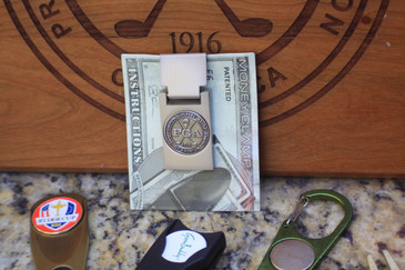 PGA Ball Marker & Money Clip ! Free shipping