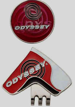 "Odyssey -Golf Ball Marker & Hat Clip "" Red"" Magnetic- Great Looking  ! Japan New"
