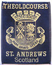 "St Andrews "" The Old Course Dark Navy Golf Bag Towel - Free St Andrews 2015 BM"