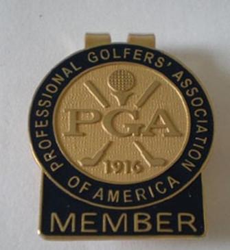 PGA Money Clip Blue Member Tab-Free Masters Black Trim Ball Marker!