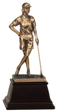 Female Standing Golfer - Great Club Trophy