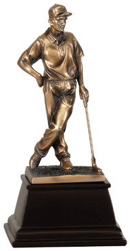 Male Standing Golfer - 9 inch Resin