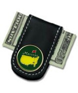 The Masters Green Black Leather Money Clip