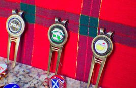 The Masters Black Ball Marker & Divot Tool - / Free Martini Tee & Champ Tee